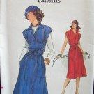 Vintage Vogue 9384 A Line Sleeveless Dress Wrapped Tie Belt Pattern Uncut Size 14