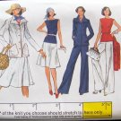 Vintage 70s Vogue 9120 Bateau Neck Top Jacket A-Line Skirt Pants Sewing Pattern Uncut Size 14
