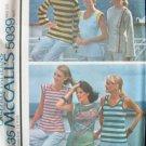 Vintage 70s McCall's 5039 Tank Cap or Bracelet Sleeve Summer Top Pattern Uncut Size 10-12