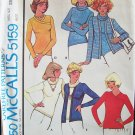 Vintage 70s McCall's 5159 Pullover Sweater or Cardigan Sewing Pattern Uncut Size 10-12