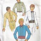 Vintage 70's Simplicity 7205 Men's Tuxedo Shirt Cummerbund and Bowtie Pattern Uncut Size 40
