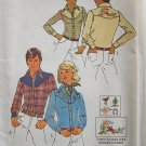 Vintage 70s Simplicity 7051 Men's Embroidered Yoked Western Shirt Pattern Uncut Size 38-40