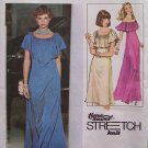 Vintage 70's Simplicity 8419 Ruffled Top Evening Dress Pattern Uncut Size 8-12