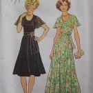 Vintage 70's Simplicity 7382 Cape Collar Evening Dress Pattern Flared Skirt Uncut Size 12