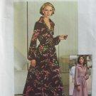 Vintage 70's Simplicity 7168 Raglan Sleeve Shirt Collar Evening Dress Pattern Uncut Size 12
