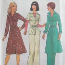 Vintage 70s Simplicity 7649 Coat Dress Top and Pants Pattern Uncut Size 12