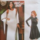 Vintage Butterick 4528 Evening Maxi Dress and Shawl Pattern Uncut Size 12 Scoop Neck Sleeveless