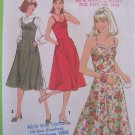Vintage 70's Simplicity 8467  Sweetheart Neck Sundress Pattern Uncut Size 12 Strappy Jumper