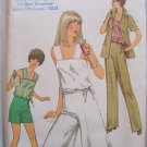 Vintage 1970's Simplicity 8522 Culottes Jacket Summer Top Pants and Shorts Pattern Uncut Size 14