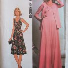 Vintage 70's Simplicity 7793 Sleeveless Empire Waist Maxi Evening Dress and Jacket Pattern Uncut
