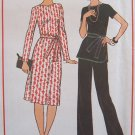 Vintage 70's Simplicity 7843 Tunic Top Pants And Dress Sewing Pattern Uncut Size 10-12