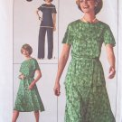 Vintage 70's Simplicity 7832 Long  Tunic Top Pants and Skirt Pattern Uncut Size 12