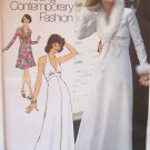 Vintage 70's Simplicity 6658 Halter Evening Dress Shawl Collar Bolero Jacket Pattern Uncut Size 12