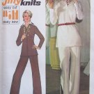 Vintage 70s Simplicity 6550 Wing Collar Jacket Top and Pants Pattern Uncut Size 12