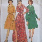 Vintage 70s Simplicity 6560 Shirtwaist Maxi Dress Pattern Uncut Size 12 Long Short Sleeve