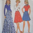 Vintage 70s Simplicity 6789 Back Wrap Skirt and Scarf Pattern Uncut Size 12-14