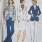 Vintage 70s Simplicity 6803 Jacket Skirt and Pants Pattern Pantsuit Uncut Size 12