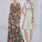 Vintage 70's Simplicity 5850 Empire Waist Maxi Dress Pattern Flared Skirt V-Neckline Uncut Size 12
