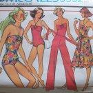 Vintage 70s McCall's 5592 Strapless Bodysuit Swimsuit Skirt Pants Pattern Uncut Size 12