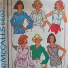 Vintage 70s McCall's 5597 Pullover Tunic Blouse Top Pattern Uncut Size 12 Sleeveless or Long