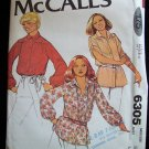Vintage 70s McCall's 6305 Yoked Button Front Tunic Blouse Top Pattern Uncut Size12