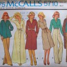 Vintage 70's McCall's 5710 Maxi Shirtdress Jacket Pants Pattern Uncut Size 12