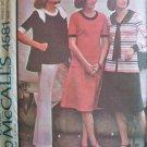 Vintage 70s McCall's 4581 Sailor Collar Top Jacket Flared Skirt Wide Leg Pants Pattern Uncut