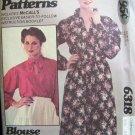 Retro 70s McCall's 6318 Raglan Sleeve Dress or Blouse Pattern Uncut Size 8-12