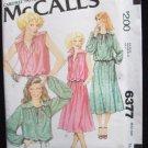 Vintage70s McCall's 6377 Shoulder Yoke Tie Font Top and Skirt Pattern Uncut Size 10-12