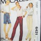 Vintage 70's McCall's 6421 Bermuda Shorts Pleat Front Pants Pattern Uncut Size 10-14
