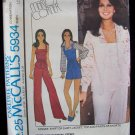 Vintage 70s McCall's 5934 Camisole Top Shirt Jacket Pants or Shorts Pattern Uncut Size 12-16