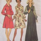 Vintage 70s Simplicity 5968 Empire Waist Long Sleeve Evening Dress Pattern Uncut Size 12