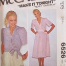Vintage 70s McCall's 6526 Wrap Top Skirt Dress Pattern Short Sleeve Uncut Size 12