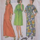 Retro 70s Simplicity 6048 Kimono Sleeve Standing Collar Robe Pattern Uncut Size 12-14