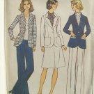 Vintage 70s Simplicity 6803 Pants Suit Skirt Jacket Pattern Uncut Size 14