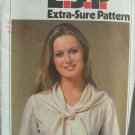 Vintage 70s Simplicity 8468 Collarless Dress Blouse and Scarf Pattern Uncut Size 8-12