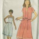 Vintage 70s Simplicity 8518 Sundress Kimono Sleeve Cropped Jacket Pattern Uncut Size 12