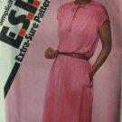 Retro 80s Simplicity 9483 Pullover Dress Short Kimono Sleeve Pattern Uncut Size 10-14