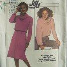 Vintage 70s Simplicity 8162 Cowl Neck Raglan Sleeve Top Skirt Pattern Uncut Size 10-12