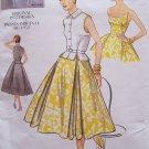 Vogue 2561 Vintage Model 1950's Full Skirt Sundress Sleeveless Top Belt Pattern Uncut