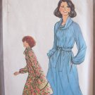 Vintage 70s Simplicity 8386 Cowl Neck  Raglan Sleeve Dress Pattern Tie Belt Uncut Size 10-12