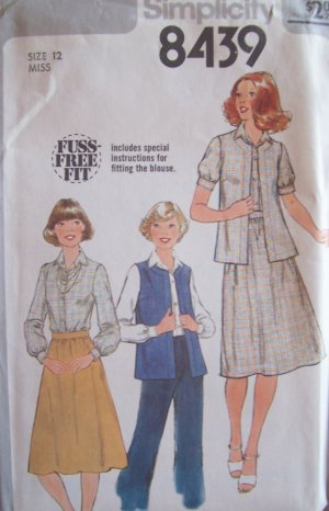 Fashion Express Sewing Patterns - Sleeveless fitted vest with
