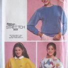 Retro 80s Simplicity 9740 Pullover Top Pattern Uncut Size 12 Raglan Sleeve Square or Round Neck