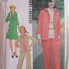 Vintage 1975 Simplicity 7087 Shirt Jacket Skirt and Pants Pattern Uncut Size 12