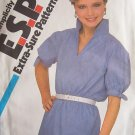 Retro 80s Simplicity 5505 Pullover Tunis Blouse Puff Short Sleeve Pattern Uncut Size 16-20
