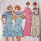 Vintage 70s Simplicity 8198 Nightgown and Robe Pattern Uncut Size 12