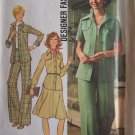 Vintage Simplicity 7046 Safari Style Shirt Jacket Skirt Pants Pattern Uncut Size 12