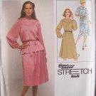 Vintage 70s Simplicity 8740Round Yoke Raglan Sleeve Tunic Top Skirt Pattern Uncut Size 10-14