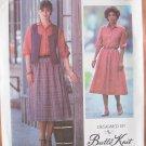 Vintage 70s Simplicity 8727 Butte Knit Skirt Blouse and Vest Pattern Uncut Size 12