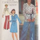 Vintage 70s Simplicity 7086 Tucked Front Dress Top and Pants Pattern Uncut Size 12